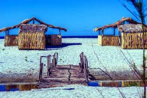 ビーチの個室小屋